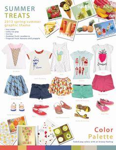 Trend Board: Summer Treats by Hana Chiang, via Behance