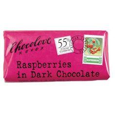 Mini 55% Raspberries in Dark Chocolate bar