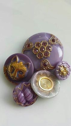 Lavender Czech glass buttons at ♡♡Bella Bouton♡♡ on Facebook and Etsy.