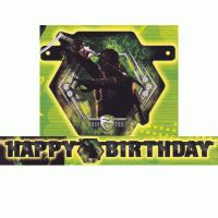 G.I. Joe Light Up Happy Birthday Banner from www.HardToFindPartySupplies.com #PartySupplies