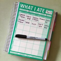 Laminated Food Tracker Insert for Erin by RosieRyeAccessories