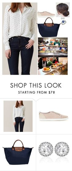 """""""Making a surprise visit to a Food Bank, and helping hand out food"""" by fashion-royalty ❤ liked on Polyvore featuring Kiki mcdonough and Blue Nile"""