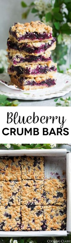 Blueberry Crumb Bars - one of the BEST summer desserts! Here a crisp, buttery cookie-like crumb sandwiches a sweet, fresh, juicy blueberry filling and these things just couldn't get any better! Best Summer Desserts, Just Desserts, Delicious Desserts, Yummy Food, Blueberry Crumb Bars, Blueberry Desserts, Cookie Recipes, Dessert Recipes, Bar Recipes