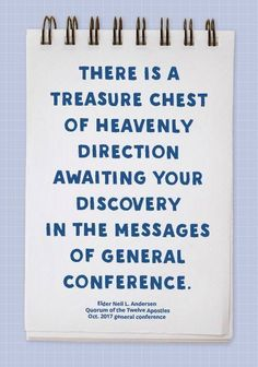 General Conference messages are sacred treasures ❤😇 #ldsconf