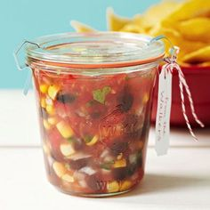 Healthy Chunky Salsa for a party or a DIY gift.