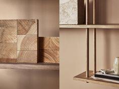 Fogia Bond Modular Shelving | Mohd Shop Modular Shelving, A Shelf, Open Plan Living, Solid Oak, Storage Solutions, Interior Architecture, Floating Shelves, Bond, Branding Design