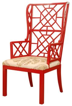 Red Chinoiserie Chair by Red Egg - love it!