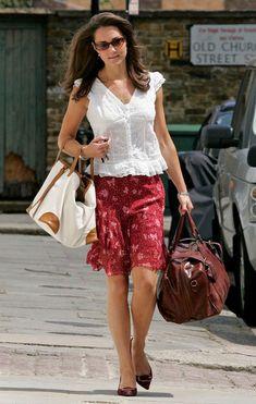 Kate Middleton Knee Length Skirt