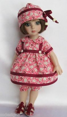 """OOAK Playfully Patsy with Sandals for 10"""" Ann Estelle etc Made by Ssdesigns 