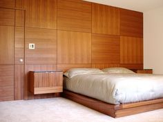fabulous wood wall panelling design in contemporary bedroom interior with white bed also wooden frame near bedroom wood wall panel
