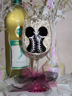 Hand Painted Wine Glass Bachelorette Party by ArtworkByKimTyson, $13.75