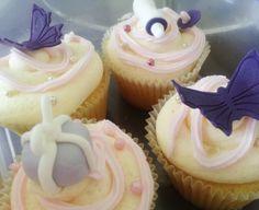 Vanilla Cupcakes with Vanilla Buttercream - Baby Shower Decorations