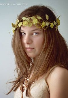 Delicate+Floral+Bridal+Wreath+Ready+to+Ship+by+by+RubyandCordelias,+$40.00