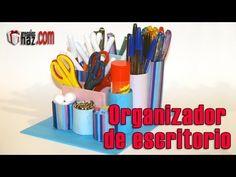 DIY Organizador para escritorio de material reciclado - Desktop Organizer from recycled materials - YouTube