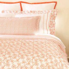 Kyra orange duvet cover.