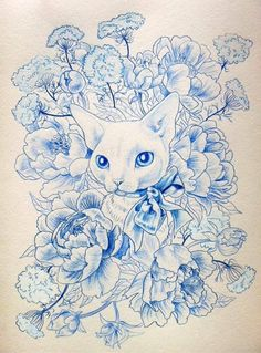 Julie Filipenko. For my embroidered cat tattoo. The style is perfect!