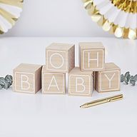 Ginger Ray Building Block Guest Book Alternative Oh Baby!, Multi-Colored Ginger Ray Building Block Guest Book Alternative Oh Baby! Baby Shower Unique, Décoration Baby Shower, Baby Shower Games, Baby Shower Parties, Baby Shower Party Supplies, Baby Supplies, Party Box, Baby Building Blocks, Organiser Une Baby Shower