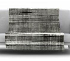 Grey Accent by CarolLynn Tice Fleece Throw Blanket