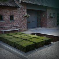 strakke voortuin Excellent modern design - very clean and chic Garden Shrubs, Lush Garden, Dream Garden, Little Gardens, Small Gardens, Modern Landscaping, Outdoor Landscaping, Pond Design, Landscape Design