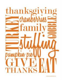 Happy Halloween! With tomorrow being the first day of November, it is time to start looking towards turkey day. Time to replace that Halloween art with some Thanksgiving word art. Scroll to the bottom of the post to download this printable. All I ask is you become a follower and like us on facebook before...Read More »