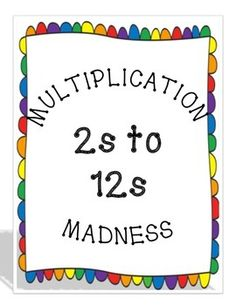Make one copy of the zeroes page. Make 9 copies of the times 1 to times 9 page. Make 3 copies of the times 10 to times 12 page if you want to include multiples all the way to 12s. This game can be played with one player contesting the clock. Two players can play to see who can make the most sets. Students at all levels can be successful and have fun playing the game.