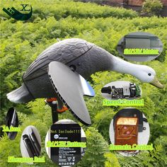 69.66$  Watch now - http://alibhz.worldwells.pw/go.php?t=32789562264 - Xilei Wholesale Outdoor Hunting Decoy Remote Control 6V/12V Plastic Drake Decoy With Magnet Spinning Wings 69.66$