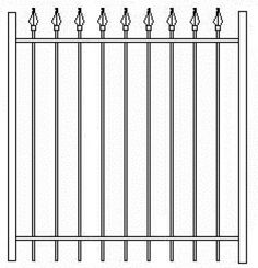 60 Inch High RPF101 Residential Wrought Iron Gate Fence.depot.com 1-800-760-5170