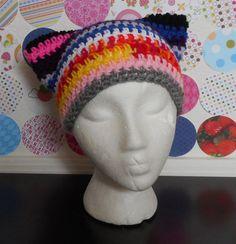 Frankencat - Kitty Ear Hats Handmade  (Still one left!)