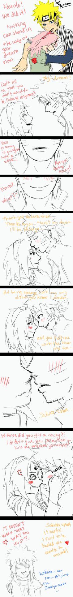 NaruSaku - The Kiss by Kirabook.deviantart.com on @deviantART