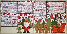 Cricut Crazy Scrapper: Santa's Workshop layout using winter frolic and paper doll dress up