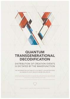 QUANTUM TRANSGENERATIONAL DECODIFICATION by Metric72 , via Behance