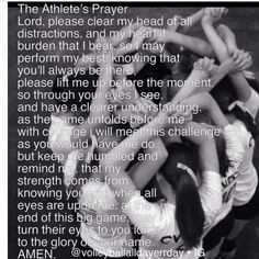 Athletes prayer, this is amazing! So perfect for the team!❤
