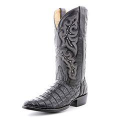 Circle G Black Caiman Tail Cowboy Boots (Tent Sale!)