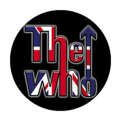 THE WHO FLAG LOGO BUTTON