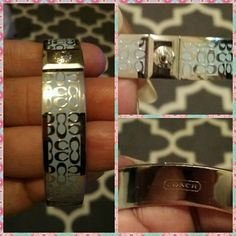 Authentic Coach bangle with signature C's Powder blue with silver accents. New without tags. This bracelet was never worn due to the fit wasn't what I was comfortable with. Would make a great gift ?? for yourself or family member or friend. Coach Jewelry Bracelets