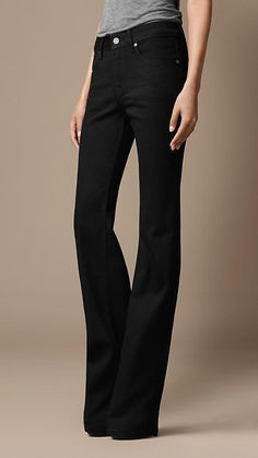 Chelsea Black Bootcut Jeans | Burberry