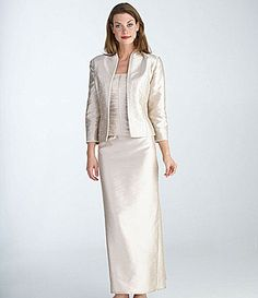 KM Collections Embellished Shantung Jacket Dress Mother of the Bride Dress Mature Bride Dresses, Mob Dresses, Bridesmaid Dresses, Wedding Dresses, Mother Of The Bride Dresses Long, Mother Of Bride Outfits, Mother Bride, Gowns Of Elegance, Groom Dress