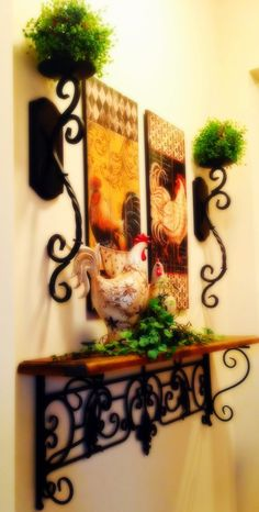 Tuscan kitchen vignette - The Tuscan Home: Wall Vignette