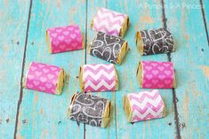 Hershey's Candy wrappers, could possibly use washi tape too?