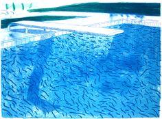 """Ci sono grandi affinità tra Hockney e il racconto """"Per sempre lassù"""" di DFW, il suo bordo piscina esistenziale - https://www.facebook.com/davidfosterwallaceitalia"""