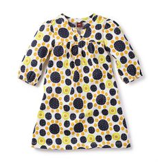 Geeti Mini Dress | Geeti is an Indian girl's name that means melody. This spotty print of synchronized circles keeps her in tune with her own style.