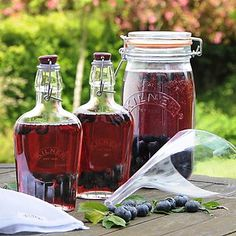 How to Make a Tasty Sloe Gin Recipe. Where to get sloes and what gin to use. I first discovered sloe gin a few Christmases ago when my sister made me some. Gin Making Kit, Wine Making, Rhubarb Gin, Gin Gifts, Gin Recipes, Plum Recipes, Kilner Jars, Gin Bottles, Glass Bottles