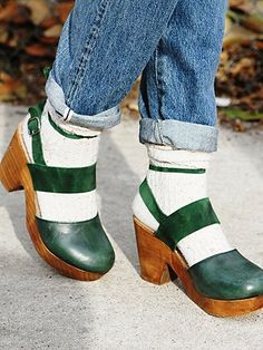 a3230de1cd62 Free People Belmont Leather Clog Socks And Sandals