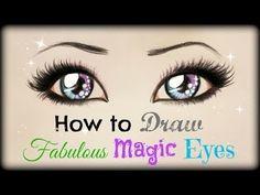 -Tutorial de Dibujo. Como dibujar unos fabulosos ojos azules. ✎