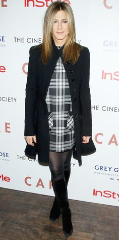 21 Chic Celebrity Looks That Have Us Saying Yes to Tights - Jennifer Aniston from #InStyle