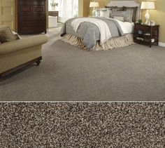 Shaw Floors carpet in style Montage color Worn Pewter  #ProSourceFloors  #ShawFloors