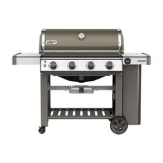 Weber Genesis II E-410 4-Burner Propane Gas Grill in Smoke (Grey) with Built-In Thermometer