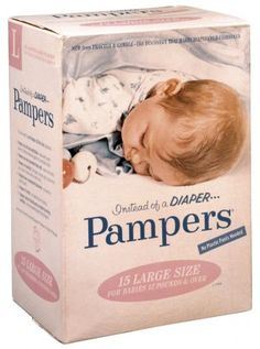 Vintage Pampers--when these first came out you had to pin them with a diaper pin--circa1967