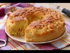 Ciambella salata veloce - YouTube Quiche, Savoury Baking, Romanian Food, Breakfast Pancakes, Chiffon Cake, Bagel, Italian Recipes, Baked Goods, Banana Bread