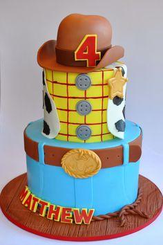 Toy Story Birthday Cake, Toy Story Party, Baby Birthday, Birthday Parties, Bolo Toy Story, Toy Story Cakes, Woody Cake, Cowboy Cakes, Cumple Toy Story